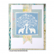Crafty Individuals CI-321 - 'The Elephant Tree' Art Rubber Stamp, 85mm x 85mm