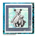 Crafty Individuals CI-440 - 'Two Teds' Art Rubber Stamp, 80mm x 94mm