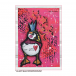 Crafty Individuals CI-376 - 'Party Puffin' Art Rubber Stamp, 78mm x 98mm