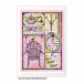 Crafty Individuals CI-458 - 'Home Sweet Home' Art Rubber Stamp, 96mm x 137mm