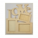 Must Haves - 'Decorative Wooden LOVE Multi Frame', 166mm x 191mm