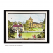 Crafty Individuals CI-474 - 'The Village Inn and Church' Art Rubber Stamps, 97mm x 136mm