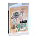 Crafty Individuals CI-473 - 'Pretty Flamingos' Art Rubber Stamps, 137mm x 96mm