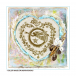 Crafty Individuals CI-476 - 'Christmas Angel of Love' Art Rubber Stamp, 90mm x 95mm