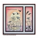 Crafty Individuals CI-478 - 'A Flock of Birds' Art Rubber Stamp, 137mm x 96mm