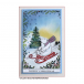 Crafty Individuals CI-484 - 'Christmas Sledging Fun' Art Rubber Stamp, 93mm x 93mm