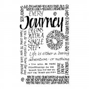 CI-053 - 'Journey Calligraphy' Art Rubber Stamp, 55mm x 85mm