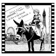 CI-158 - 'Seaside Donkey Rides' Art Rubber Stamp, 75mm x 72mm