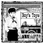 CI-159 - 'Boy's Toys' Art Rubber Stamp, 85mm x 85mm