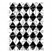 CI-170 - 'Harlequin Swirl Background' Art Rubber Stamp, 65mm x 90mm