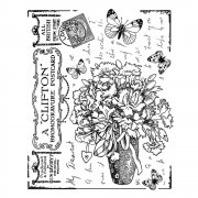 CI-337 - 'Butterfly Bouquet' Art Rubber Stamp, 70mm x 88mm