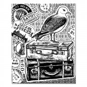 CI-344 - 'Seagull Adventure' Art Rubber Stamp, 70mm x 85mm