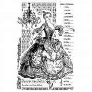 CI-346 - 'Dancing until 1 O'Clock' Art Rubber Stamp, 65mm x 100mm