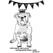 CI-370 - 'British Bulldog' Art Rubber Stamp, 72mm x 105mm