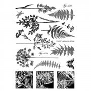 CI-207 - 'Ferns and Grasses' Art Rubber Stamps, 96mm x 137mm