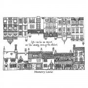 CI-274 - 'Memory Lane Houses' Art Rubber Stamps, 96mm x 137mm