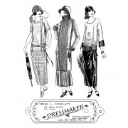 CI-322 - 'The Dressmaker' Art Rubber Stamps, 96mm x 137mm