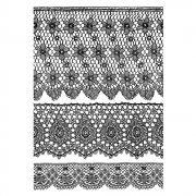 CI-350 - 'Lovely Lace' Art Rubber Stamps, 96mm x 137mm