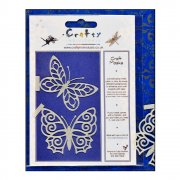 Craft Masks - 'Lacewing Butterfly' Masks (x 2 designs per pack), 55mm x 45mm approx