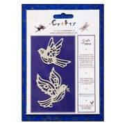 Craft Masks - 'Sweet Flying Birds' Masks (x 2 designs per pack), up to 55mm x 65mm approx