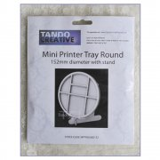 Must Haves - Tando 'Round Printer Tray with stand', 152mm diameter