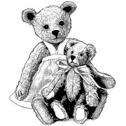 CI-440 - 'Two Teds' Art Rubber Stamp, 80mm x 94mm
