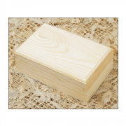 Must Haves - 'Oblong Wooden Jewellery Box' 140mm x 90mm x 50mm