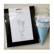 Must Haves - 'Pack of 20 Plain White Card Cones with Handles'