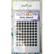 Must Haves - 'Dinky Stencil, Circles', 75mm x 120mm