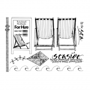CI-454 - 'By the Sea' Art Rubber Stamps, 137mm x 96mm