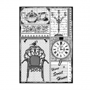 CI-458 - 'Home Sweet Home' Art Rubber Stamp, 96mm x 137mm