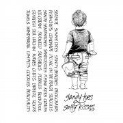 CI-459 - 'Sandy Toes & Salty Kisses' Art Rubber Stamps, 96mm x 137mm