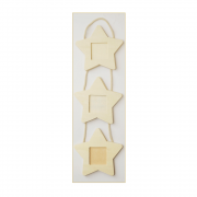 Must Haves - 'Decorative Wood Star Shaped Hanging Frames', 120mm x 410mm