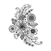 CI-466 - 'Floral Spray' Art Rubber Stamps, 90mm x 113mm