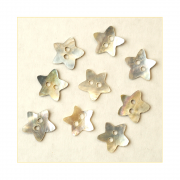Must Haves - 'Natural Shell Star Shaped Buttons', 15mm x 15mm