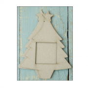 Must Haves - '2 Piece Small Laser Cut Chipboard Christmas Tree', 100mm x 130mm