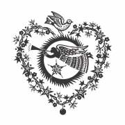CI-476 - 'Christmas Angel of Love' Art Rubber Stamp, 90mm x 95mm