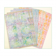 Eight A4 Background Paper Sheets - 'Floral Festival in Colour'