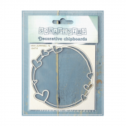 Must Haves - 'Mamma's Heart Small Round Frame, Decorative Laser Cut Chipboard', 90mm x 90mm