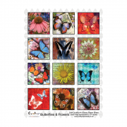 A4 Glossy Sheet - 'Butterflies and Flowers'
