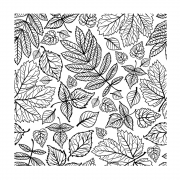 CI-486 - 'Falling Leaves Repeating Background' Art Rubber Stamp, 93mm x 93mm