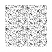 CI-492 - 'Pretty Florals Repeating Background' Art Rubber Stamp, 92mm x 92mm