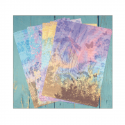 Eight A4 Background Paper Sheets - 'Aurora Borealis'
