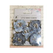 Must Haves - 'Desiree Grey Sky Paper Flowers', 5pcs, up to 45mm