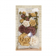 Must Haves - 'Rosalind Grape Tan Paper Flowers', 21 pcs, up to 60mm