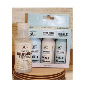 Must Haves - 'Little Birdie Chalk Paint Set with Crackle Medium' 3 paints, 1 crackle medium