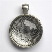 Must Haves - 'Silver Round Jewellery Pendant Setting with Glass', 28mm