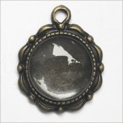 Must Haves - 'Old Gold Round Jewellery Tiny Pendant Setting with Glass', 20mm