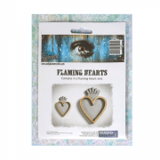 Must Haves - 'Flaming Hearts, by Andy Skinner x 4', up to 40mm x 60mm