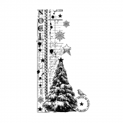 CI-502 - 'Noel Border' Art Rubber Stamps, 71mm x 136mm